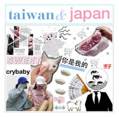 """""""xxvi. taiwan and japan"""" by yoii ❤ liked on Polyvore featuring art and yoiirandom"""