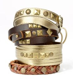 Awesome leather bracelets! #DIY #jewelry