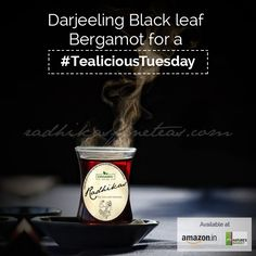 Try our stunning fusion of the finest Darjeeling leaves and pure Bergamot fruit, a fragrant #organic wholeleaf known to be the most famous of black teas.  #RadhikasFineTeas #TealiciousTuesday