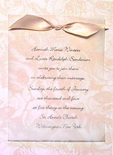 Romantic wedding invitations like a beautiful party dress of soft romantic wedding invitations like a beautiful party dress of soft blush pink tied with a luxe black crepe ribbon this ultra romantic design promis stopboris Image collections