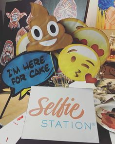 Emoji photobooth props. More