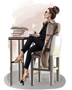 52 Ideas Fashion Sketchbook Ideas Girls For 2019 Boss Lady, Girl Boss, Trendy Fashion, Girl Fashion, Fashion Beauty, Mode Chanel, Girly Drawings, Fashion Wall Art, Fashion Design Sketches