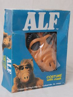 vintage 1987 alf halloween costume unused in the box small ebay - Alf Halloween Episode