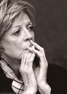 Maggie Smith - showing more acting talent in 1 picture than most film stars show in a lifetime. /// True, that...
