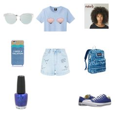 Untitled #99 by kdeanbh on Polyvore featuring polyvore fashion style New Look Converse JanSport Kate Spade OPI clothing