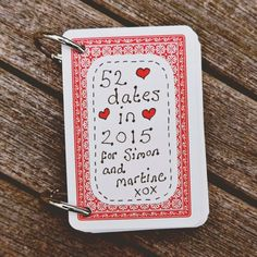 Make your own cute mini-book out of a deck of cards.