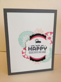 Stampin' Up! Petal Parade and See Ya Later card