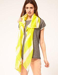 scarf – yellow & white