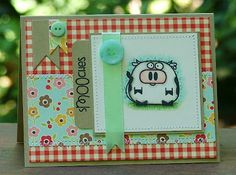 Paper Smooches Chubby Chums stamps and October Afternoon Farm Fresh papers