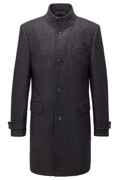 BOSS Sintrax3 Manteau élégant en laine mélangée chinée Lingerie, Double Breasted Suit, Suit Jacket, Costumes, Suits, Sweaters, Jackets, Fashion, Woman Clothing