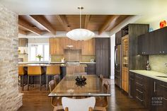 Example of a Warm Exotic Contemporary Kitchen - Kitchen Studio: KC is focused on delivering work that blends beauty with function, style & innovation. Mid-century Modern, Contemporary, Studio Kitchen, Cool Kitchens, Kitchen Renovations, Warm, Table, Mid Century, Furniture