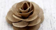 Rosa de Rolo de Papel Higiênico Passo a Passo | Reciclagem no Meio Ambiente – O seu portal de artesanato com material reciclado