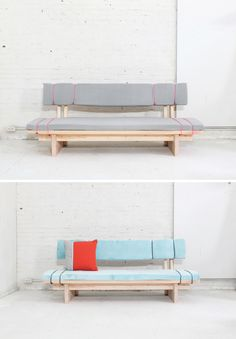Sofas can cost a pretty penny but you can build one for less than $100 (and it requires no sewing)! Check out the site for the full instructions and material list: http://www.homemade-modern.com/ep91-diy-sofa-for-under-100/