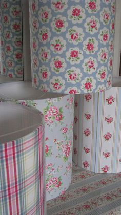 Cath Kidston lampshades Handmade in the UK by the old lamp shed
