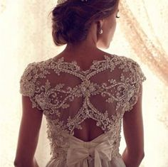beautiful back of dress