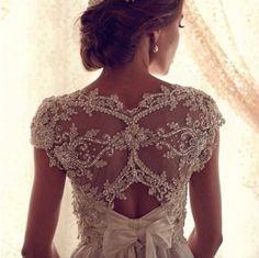 beautiful back of dress