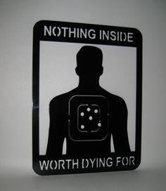 Custom Metal Signs Cut Outs | ... Dying For Home Security Sign Handmade Custom Metal Art Plasma Cut