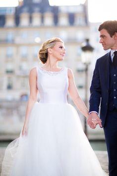 Elopement gown: http://www.stylemepretty.com/destination-weddings/2014/11/10/springtime-in-paris-elopement/ | Photography: Le Secret D'Audrey - http://www.lesecretdaudrey.com/
