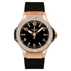 #Hublot Big Bang Rose Gold Diamonds #Watch