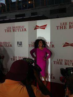 "Oprah on the red carpet in LA for Lee Daniels' ""The Butler' Premiere - fabulous! http://rodeodrivelifestyles.blogspot.com/2013/08/lee-daniels-film-butler-opens-on-friday.html"