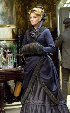 In most Victorian fashion, dark colours were prominent, such as royal blues and purples, and the most universal colour, black.. mary