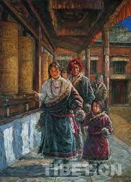 西藏寺庙油画 - Google Search
