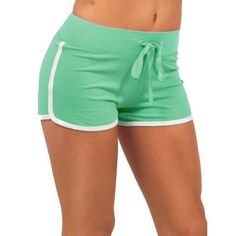 Piping Edged Workout Shorts