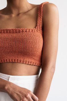 Crop Top Pattern, Bralette Tops, Cotton Bralette, Camisole, Crochet Crop Top, Crochet Top Outfit, Crochet Tops, Crochet Bikini, Hand Knitting