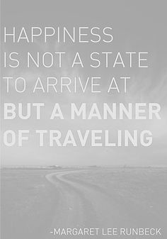 ... so keep on traveling.