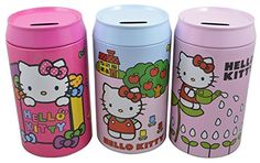 Sanrio Hello Kitty Cute Adorable Large Tin Coin Piggy bank Set of 3 * For more information, visit image link.