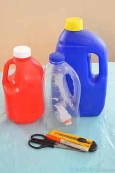 How to Make Plastic Bottle Sand Scoops. picklebums.com