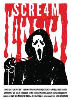 Minimal Movie Posters - Scream 4 byJohn Hayward