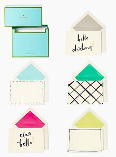 say hello darling! — the hello darling stationery set by kate spade new york (july 2014)