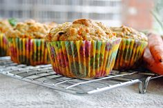 Greek Yogurt  Carrot Muffins | Perfect for the freezer and to pop in kids' lunches | Only 3 WW Points Plus each