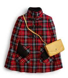 A Highland topper rich with tradition, and unexpected in a contemporary take on a classic silhouette Outfits Otoño, Preppy Outfits, Fashion Outfits, Womens Fashion, Tweed, Preppy Wardrobe, Tartan Fashion, Classy Girl, Classic Style Women
