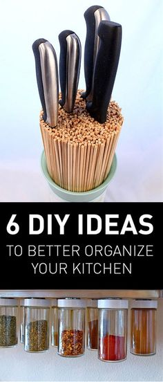 Whether your Kitchen is spacious or small use these creative ideas and hacks to better organize your kitchen and maximize the unused space and create an extra storage space. This list presents genius hacks that will help you to organize your kitchen in no time and get the most out of it.