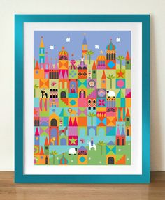 TOYTOWN Mid century modern style kids poster. 8x10 A4, Nursery print, Nursery wall art, Kids wall art, fairytale art, kids room decor