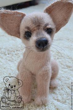 Animal toys, handmade.  Fair Masters - handmade.  Buy Toffee.  Chihuahua.  Handmade.  Beige, dog, puppy, beads