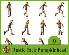 Rustic Jack PumpkinHead Pack 9 .png with transparency by Blurtsmum, £5.35