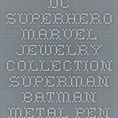 DC Superhero Marvel Jewelry Collection Superman Batman Metal Pendant Necklace – Easy Faishon