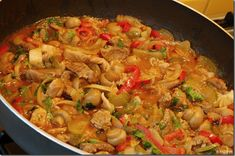 Slovak Recipes, Meat Recipes, Paella, Pasta Salad, Ham, Food And Drink, Pork, Menu, Chicken