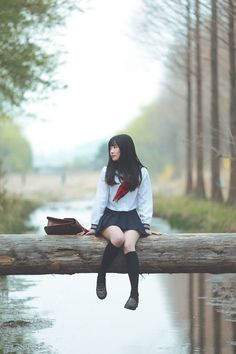 Cosplay Japanese School Girl Image shared by Little Caterpillar. Find images and videos about student, japanese girl and school uniform on We Heart It - the app to get lost in what you love.