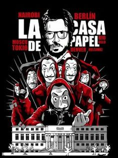 La casa de papel poster by from collection. By buying 1 Displate, you plant 1 tree. Pop Art Posters, Movie Poster Art, Poster S, Graphic Design Posters, Cool Posters, Poster Prints, Money Wallpaper Iphone, Simpson Wallpaper Iphone, Locked Wallpaper