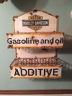 Vintage Harley Davidson Original Porcelain Sign