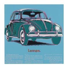 Andy Warhol, Untitled (Volkswagen Lemon)