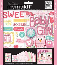 me  my BIG ideas mambiKIT Scrapbook Page Kit Baby Girl 8Inch by 8Inch * Learn more by visiting the image link.Note:It is affiliate link to Amazon.