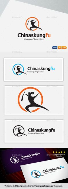 Chinas Kung Fu Logo Design Template Vector #logotype Download it here: http://graphicriver.net/item/chinas-kung-fu/10542819?s_rank=1332?ref=nexion