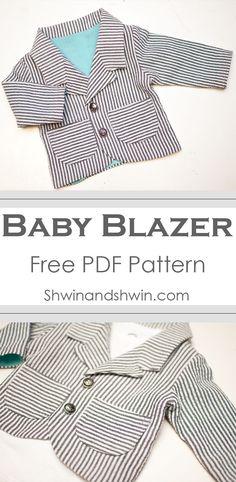 Baby Blazer Pattern    Free PDF Pattern    Shwin&Shwin