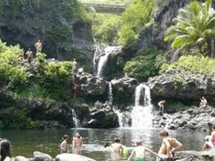 Seven Sacred Pools on the Road to Hana (Maui) loved it there!  Want to go back ASAP!