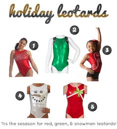 Holiday Gifting: Winter 2013 Leotards for gymnasts
